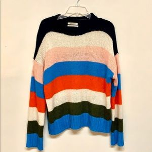 Multicolored Striped UO Knit Sweater